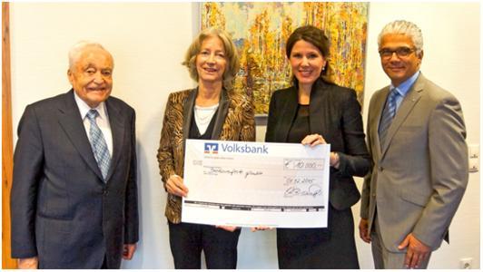 Von links nach rechts: Dr. Ludwig Klassen, Prof. Dr. Nike Wagner, Christina Barton van Dorp, Oberbürgermeister Ashok-Alexander Sridharan