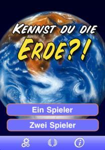 Kennst du die Erde? - Startscreen