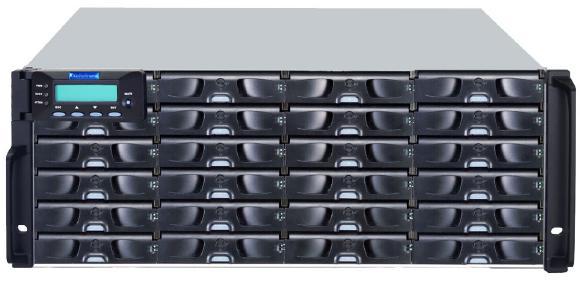Die neuen EonStor-Modelle von Infortrend – hier beispielhaft das DS 3024 U – arbeiten mit der rasanten SAS-Geschwindigkeit von 12 Gbit/s.