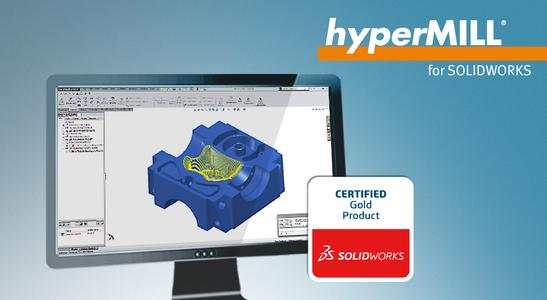 Certified Gold' product: hyperMILL® for SOLIDWORKS® (Image source: OPEN MIND)