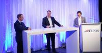 Moderator Prof. Gerd Geburtig in der Fragerunde mit den Referenten Björn Maiworm und Andreas Flock