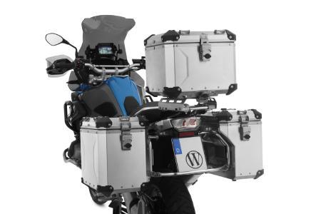 Wunderlich Gepäcksystem »EXTREME« an BMW R 1250 GS Lieferbar in den Ausführungen unbehandeltes Aluminium, schwarz eloxiert und silber eloxiert