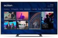 ocilion Startbildschirm mit dem Entertainment HD Paket