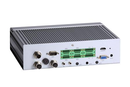 Axiomtek's tBOX323-835-FL, EN50155 fanless railway PC with Intel® Atom™ Bay Trail processor and M12 type connectors