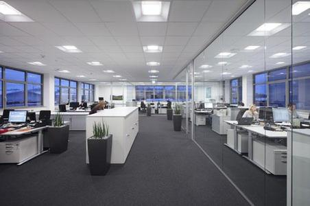 B1 I Good light for working is provided by the new Zumtobel lighting system installed in the offices of Alexander Bürkle GmbH
