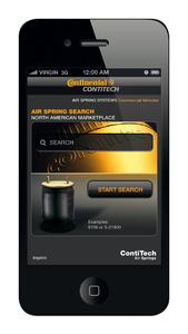 The new web app from ContiTech Air Spring Systems has been tailored to the needs of the American spare parts market