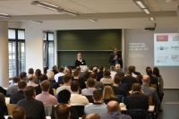 Prof. Dr. Bert Leyendecker vom Fachbereich Wirtschaftswissenschaften der Hochschule Koblenz und DGQ-Regionalkreisleiterin Sabine Pehl leiteten die Tagung gemeinsam. Fotos: Hochschule Koblenz