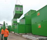 Der ConFlex-Transportrahmen ist sicher, effizient und flexibel auf unterschiedliche Container-Abmessungen einstellbar. (Quelle: ROBUSTA-GAUKEL)