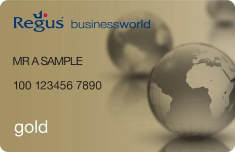 Die Businessworld Gold-Karte von Regus.