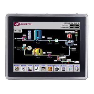 AXIOMTEKs GOT817-834 Rundum NEMA 4 / IP66-, Frontseitige IP69K-Schutzklasse; Wahlweise resistiver oder kapazitiver Touch