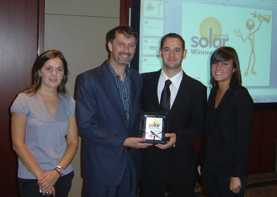 MECASOLAR prize winners at the Solar Awards 2009