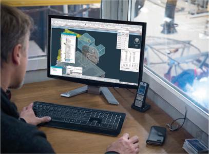 Mit MOSES-ARC von AUTOCAM können Industrieroboter offline für Bahnschweißaufgaben an räumlichen Bauteilen programmiert werden. 3D-CAD-Daten aus der Konstruktion bilden dafür die Grundlage