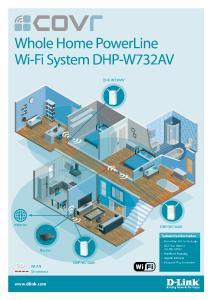 Infografik Covr Whole Home PowerLine Wi-Fi System DHP-W732AV