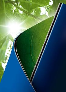 A small carbon footprint: Producing ContiTech's printing blankets generates up to 70% fewer climatically detrimental CO2 emissions than manufacturing the global standard printing blankets