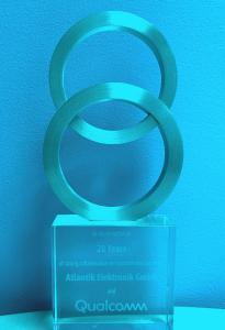 Qualcomm Auszeichnung 20 Jahre Partnerschaft