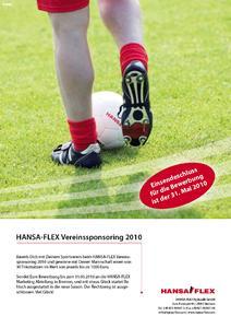 Informationsblatt Vereinssponsoring 2010 HANSA-FLEX