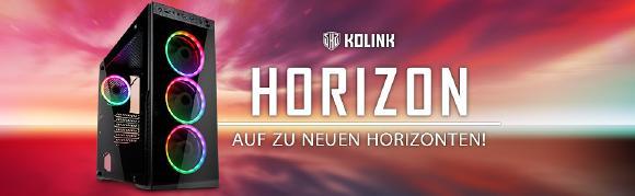JETZT bei Caseking - Der eindrucksvolle Kolink Horizon Midi-Tower zum attraktiven Preis