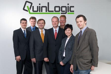 At home in the rolling mills: The QuinLogic team.