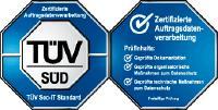 TÜV Süd Prüfzeichen Zertifizierte Auftragsdatenverarbeitung