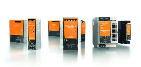 """Three families of switched-mode power supply units form the basis for reliable power supply concepts: PROeco – """"the economical options""""; PROmax – """"the powerhouses"""" and PRO-H – """"the specialists"""" (from left to right)"""