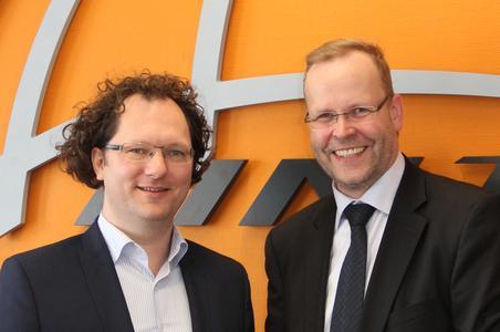 Lars Bendler (links), Axel Mayer (rechts), Geschäftsführung der LINTRA Solutions GmbH