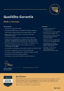 BORCO HÖHNS Qualitäts-Garantie 2021