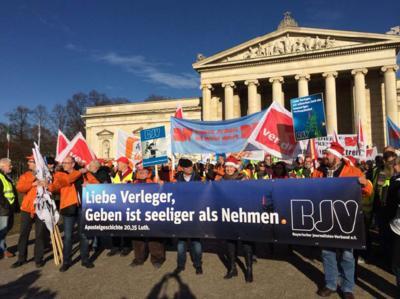 Journalistendemo in München, Foto: Maria Goblirsch