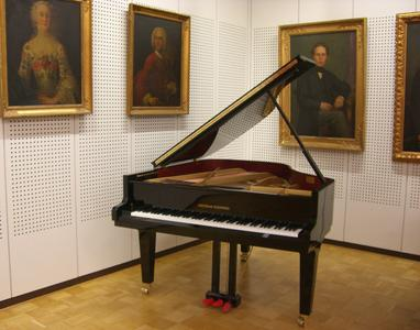 Grand piano in the concert room of GROTRIAN-STEINWEG