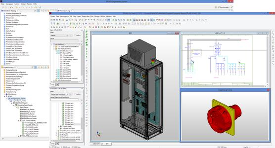 EEC-Pro Panel-Kopplung.jpg: Mit der neuen Kopplung von EEC und Eplan Pro Panel lassen sich Schaltschränke und Schaltanlagen automatisiert konfigurieren (Quelle: Eplan Software & Service GmbH & Co. KG)