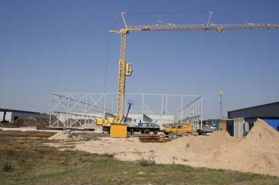 A new construction with almost 10,000 square meters production area is expected to be completed already in September 2008