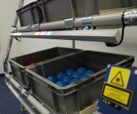 Mit einem Lasersensor können bis zu 10 m Regalfront erfasst werden (Bildquelle: NeoLog)