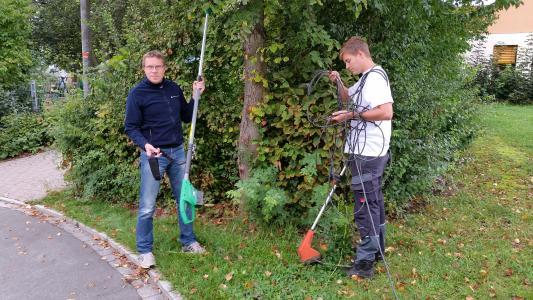 Gartengeräte mit Akkus