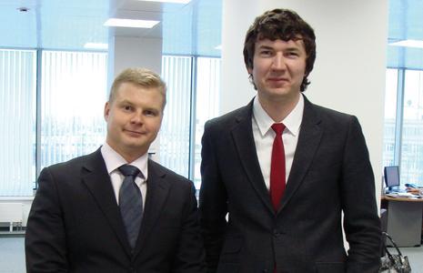 Das Verkaufsteam von MC Russland: Sergey Migush und Sergey Marchuk