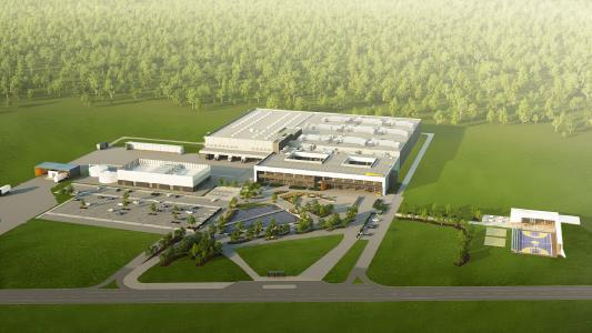 Energieeffizient und mit großem Sportcenter für die Mitarbeiter: Das Konzept des hochmodernen Elektronik-Werk / © Continental AG