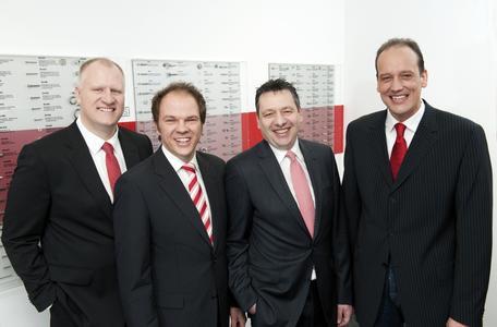 Neue Vertriebsspitze von li nach re:Frank Lehrich, Thomas Fischer, Ralf Dosin und Carsten Balzar