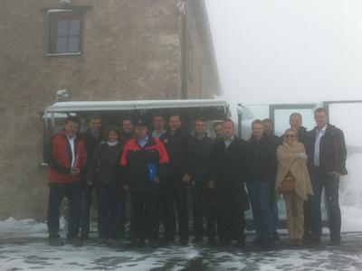 Passend zum Thema Heizen schickte Petrus den Teilnehmern des Heliotherm Gipfeltreffens auf dem Kitzbüheler Horn einen verfrühten Gruß vom Winter.