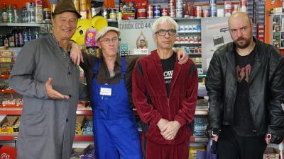 Kompletter Kiosk der Kompetenz: Ralf und Maxwell Richter, Tom Gerhardt und Peter Nottmeier gehören zur Besetzung des neuen TAROX-Film