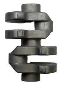Zweizylinderkurbelwellen wie diese kommen zum Beispiel in Autos und Motorrädern zum Einsatz. Ingenieure des IPH erforschen, wie der Herstellprozess ressourcenschonender werden kann. (Quelle: IPH)
