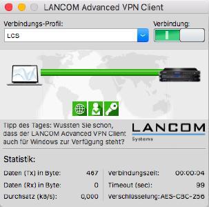 LANCOM Datenblatt LANCOM Advanced VPN Client macOS