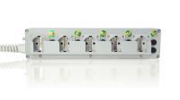 e-medic™ medizinische Mehrfachsteckdose Med5: Steckdoseneinsätze mit Abzugssicherung gegen Veränderung des elektrischen Systems