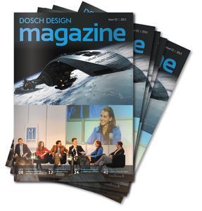 Die aktuelle Ausgabe des DOSCH DESIGN magazine