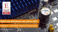 Wahl zum Distributor des Jahres 2021 - Aaronn Electronic GmbH