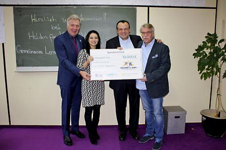LASERLINE bewahrt den Verein HELDEN für KIDS e.V. - in Kooperation mit zwei weiteren Partnern - mit einer Spende über 10.000 Euro vor dem Aus / Foto: Anke Templiner