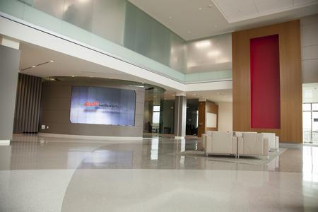 eyevis omniSHAPES Videowand im neuen Hauptsitz von Bell Helicopter in Fort Worth, Texas
