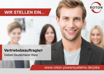 Stellenausschreibung Vertriebsbeauftragte/r - Deutschland West