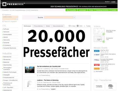 PresseBox eröffnet 20.000stes digitales Pressefach