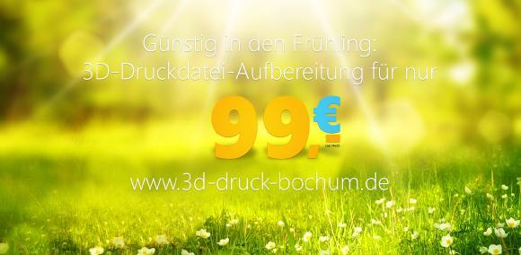 Frühlings-Angebot: 3D-Druckdaten-Aufbereitung für 99,- € pro Datei