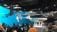 Hyundai: Für eines der CES-Highlights, die gemeinsam mit Uber entwickelte Personen-Drohne, bildete die gewölbte Panorama-LED-Wand ein eindrucksvolle Kulisse mit eindrucksvollen Szenerien und schnell greifbaren Informationen.