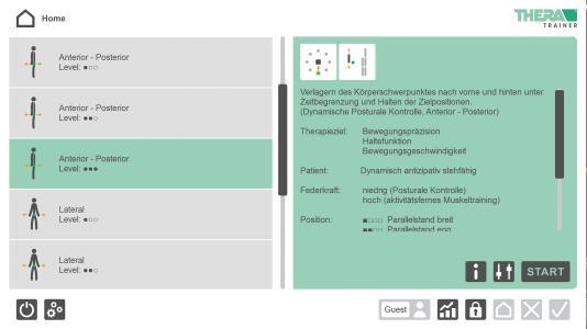 Strukturiert und übersichtlich: Das ist der Startscreen der neuen THERA-soft