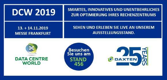 Banner von Daxten zur DCW Frankfurt 2019